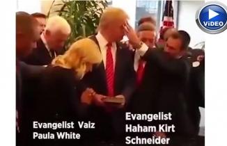 Evanjeliklerin tapınakta Trump'la ayini
